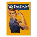 Rosie o rebitador nós podemos fazê-lo bolinhas cartão comemorativo