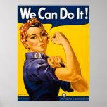 Rosie o rebitador nós podemos fazê-lo!  Vintage Poster