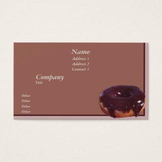 Rosquinha com cobertura em chocolate cartão de visitas