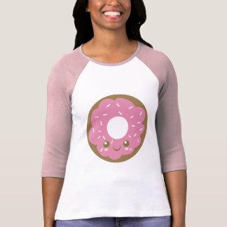 Rosquinha cor-de-rosa bonito camiseta