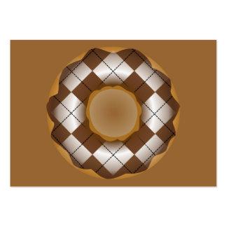 rosquinha do argyle do chocolate cartão de visita grande