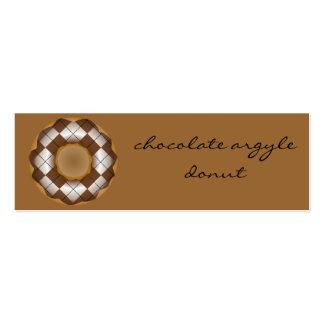 rosquinha do argyle do chocolate cartão de visita skinny