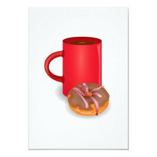 Rosquinha e café convite 8.89 x 12.7cm