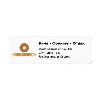 Rosquinha personalizada etiqueta endereço de retorno