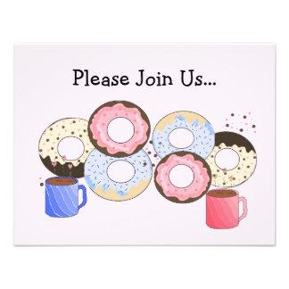 Rosquinhas e anúncio do café convites