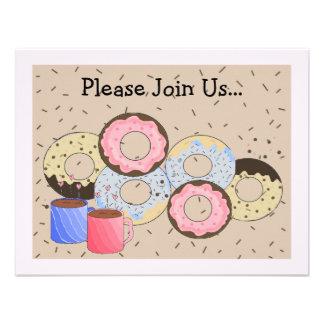 Rosquinhas e anúncio do café convites personalizados