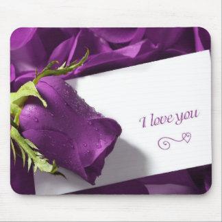 rosses roxos com amor mouse pad