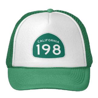 Rota 198 do estado de Califórnia Boné
