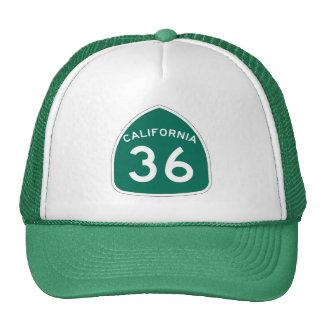 Rota 36 do estado de Califórnia Boné