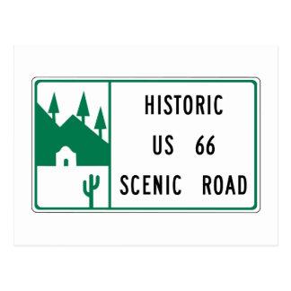 Rota 66 - Estrada cénico dos E.U. 66 históricos Cartão Postal