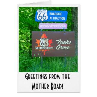 Rota 66 - Illinois - cartão do bosque dos funks