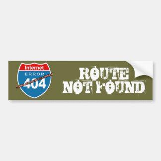 ROTA do erro 404 do Internet NÃO ENCONTRADA Adesivos