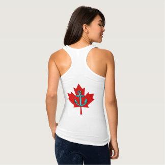 Rota do farol da camisa de Canadá da âncora do