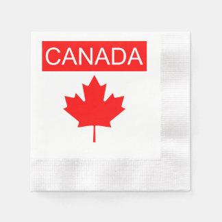 Rota do farol dos guardanapo da bandeira de Canadá