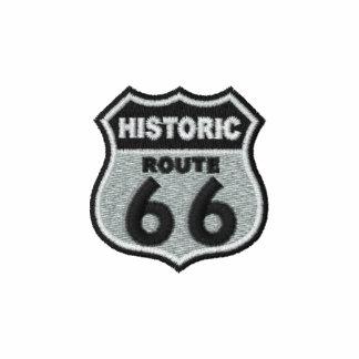 Rota histórica 66 camiseta bordada polo