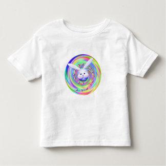 Rotação da cabeça do coelhinho da Páscoa Camiseta Infantil