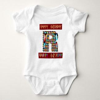 Roteiro de HappyBirthday - alfabeto ALFA Camisetas