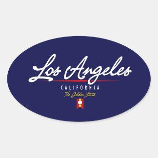Roteiro de Los Angeles Adesivos Oval