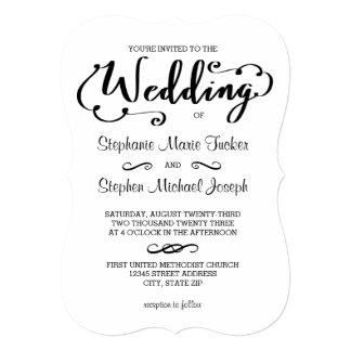 Roteiro do casamento - convite do casamento