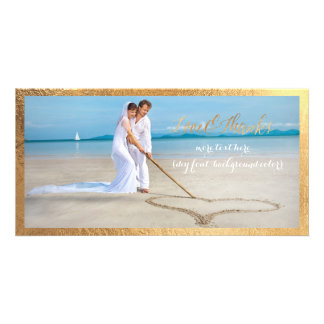 Roteiro do ouro de PixDezines/amor/obrigados/foto Cartão Com Foto