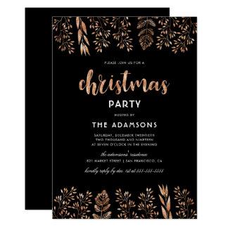 Roteiro elegante & festa de Natal botânica Convite 12.7 X 17.78cm