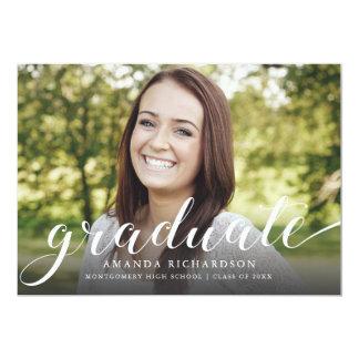 Roteiro graduado, anúncio da graduação convite 12.7 x 17.78cm