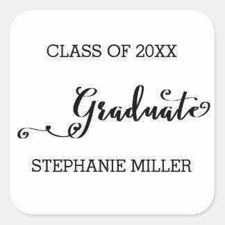 Roteiro graduado - etiqueta quadrada
