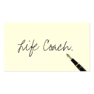 Roteiro livre da escrita do treinador da vida cartão de visita