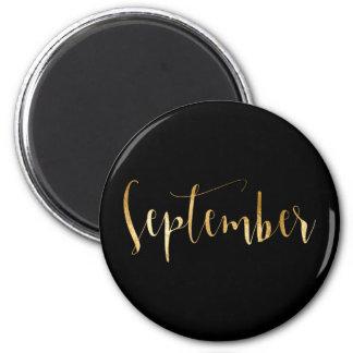Roteiro preto mensal do encanto do ouro de ímã redondo 5.08cm