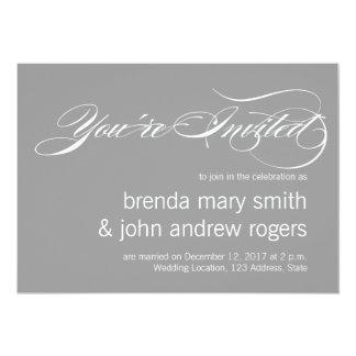 Roteiro simples Invitatioa Wedding moderno do Convite 12.7 X 17.78cm
