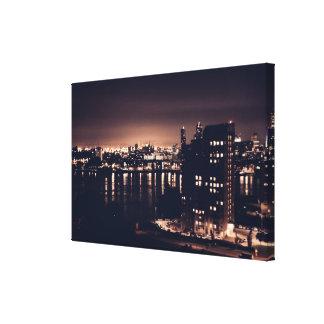 Rotterdam em canvas do solteiro da paisagem da