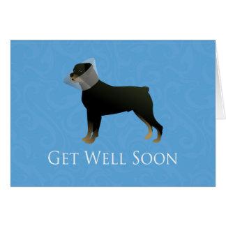 Rottweiler obtem o design do poço logo cartão comemorativo