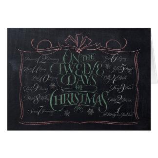 """Rotulação do quadro """"12 dias cartão do Natal"""""""