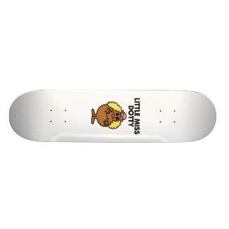 Rotulação preta pequena da senhorita Dotty   Shape De Skate 18,4cm