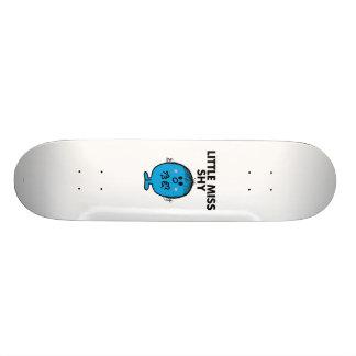 Rotulação preta pequena da senhorita Tímido | Shape De Skate 20cm