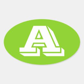 Rotule etiquetas ovais verde-amarelas de um Vineta