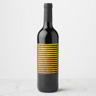 Rótulo De Garrafa De Cerveja A formiga ambarina elegante listra o teste padrão