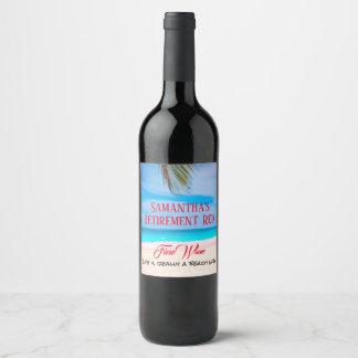 Rótulo De Garrafa De Cerveja Algum vinho fino vermelho da aposentadoria