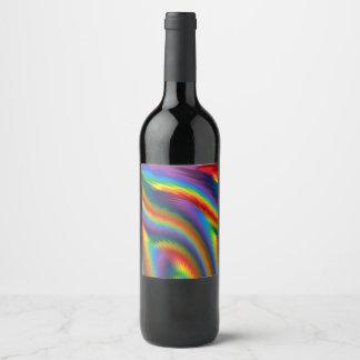 Rótulo De Garrafa De Cerveja Arco-íris picante