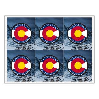 Rótulo De Garrafa De Cerveja Bandeira da circular de Colorado