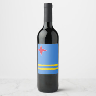 Rótulo De Garrafa De Cerveja Bandeira de Aruba