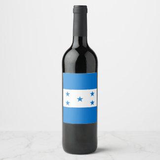 Rótulo De Garrafa De Cerveja Bandeira de Honduras