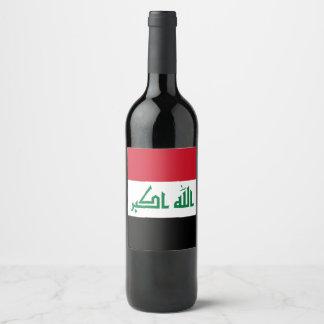 Rótulo De Garrafa De Cerveja Bandeira de Iraque