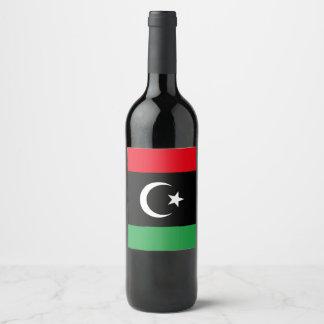 Rótulo De Garrafa De Cerveja Bandeira de Líbia