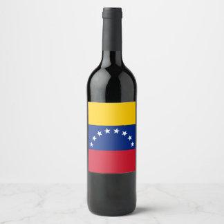 Rótulo De Garrafa De Cerveja Bandeira de Venezuela