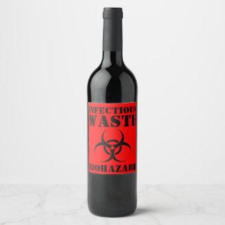 Rótulo De Garrafa De Cerveja Biohazard Waste infeccioso engraçado o Dia das