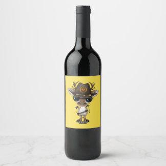 Rótulo De Garrafa De Cerveja Caçador do zombi da rena do bebê