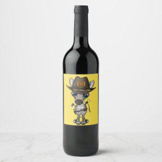Rótulo De Garrafa De Cerveja Caçador do zombi da zebra do bebê