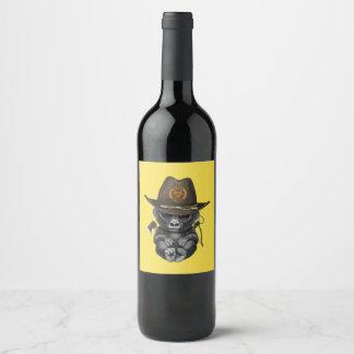Rótulo De Garrafa De Cerveja Caçador do zombi do gorila do bebê