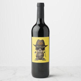 Rótulo De Garrafa De Cerveja Caçador do zombi do leão de mar do bebê